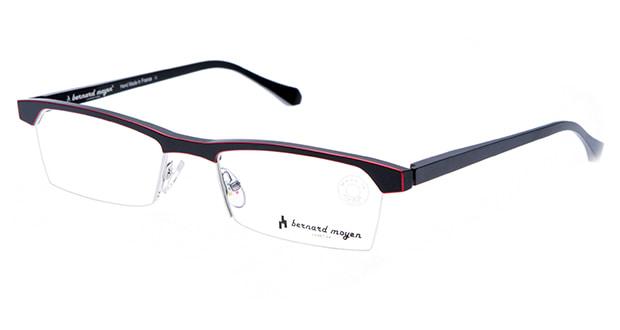 【送料無料】バーナード モワイヤン ARGON-113 メガネ(眼鏡) スクエア bernard-moyen-argon-113 ブラック 黒 メタルフレーム ハーフリム bernard moyen 度付き 伊達メガネ 即日発送 ユニセックス