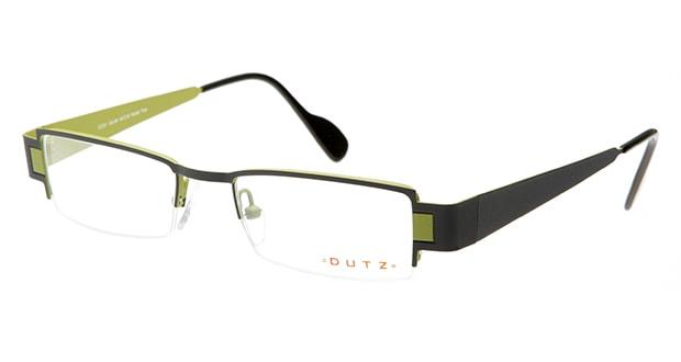 【送料無料】ダッツ DZ201-85 メガネ(眼鏡) スクエア dutz-dz201-85 グレー 灰 メタルフレーム ハーフリム DUTZ 度付き 伊達メガネ 即日発送 ユニセックス