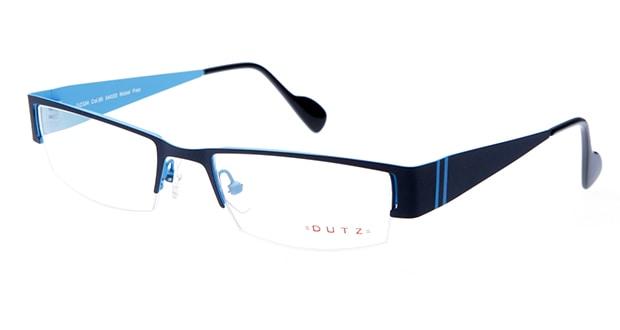 【送料無料】ダッツ DZ334-85 メガネ(眼鏡) スクエア dutz-dz334-85 グレー 灰 メタルフレーム ハーフリム DUTZ 度付き 伊達メガネ 即日発送 ユニセックス