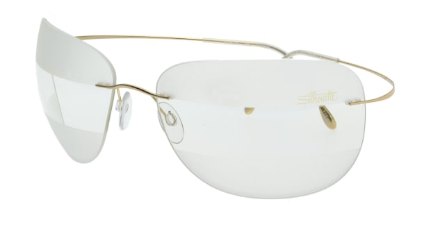 【送料無料】シルエット 8572S-25-6090 サングラス バタフライ silhouette-8572s-25-6090 ゴールド 金 メタルフレーム ツーポイント(縁なし) Silhouette サングラス:UVカット 即日発送 ユニセックス