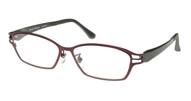 【送料無料】ブラウンシュガー BS-7772-4-55 メガネ(眼鏡) スクエア brown-sugar-bs-7772-4-55 パープル 紫 フルリム Br