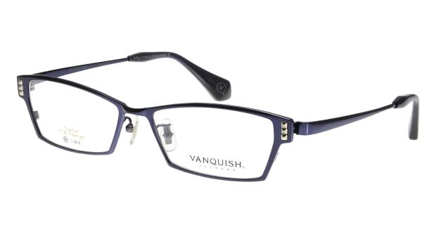 【送料無料】ヴァンキッシュ VQ-1070-C-3-NV メガネ(眼鏡) スクエア vanquish-vq-1070-c-3-nv ブルー 青 メタルフレーム フルリム VA..