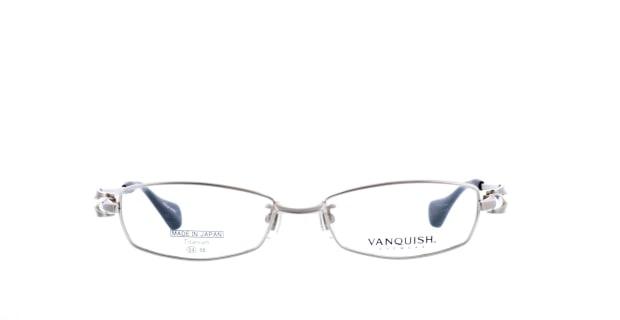 【送料無料】ヴァンキッシュ VQ-1010-C-1-SI メガネ(眼鏡) スクエア vanquish-vq-1010-c-1-si シルバー 銀 メタルフレーム フルリム ..