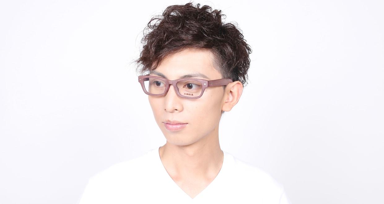 木調浪漫 八 くわ [鯖江産/ウェリントン/茶色]  6