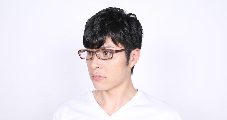 木調浪漫 拾伍 なら [鯖江産/スクエア/茶色]  8