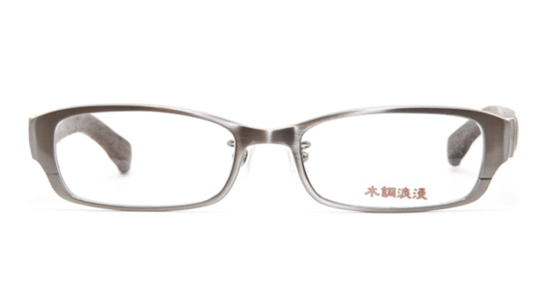 木調浪漫 弐拾弐 しおじ [メタル/鯖江産/スクエア/グレー]  1