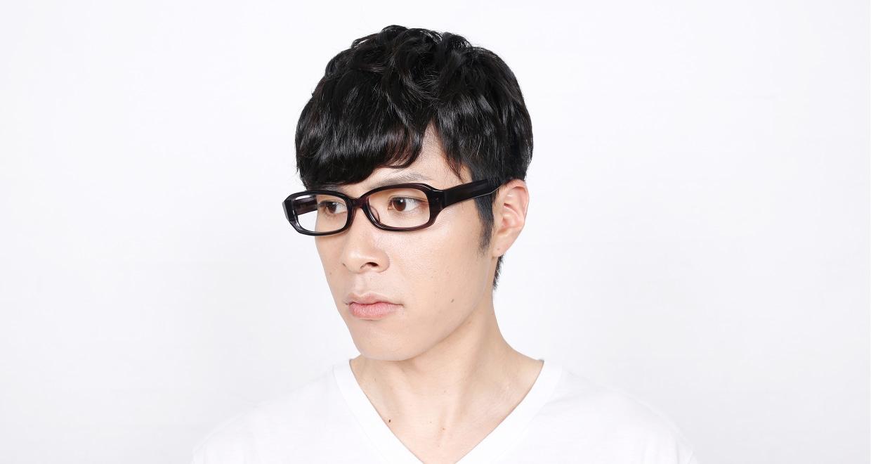 角矢甚治郎 其拾壱 ニ [黒縁/鯖江産/スクエア]  6