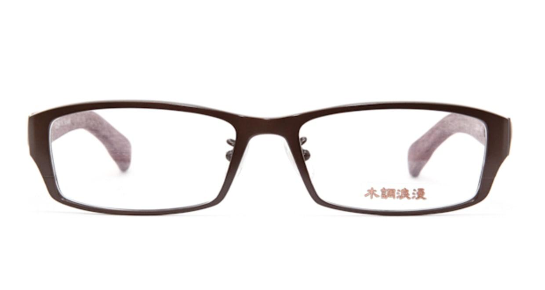 木調浪漫 弐拾参 くわ [メタル/鯖江産/スクエア/茶色]  1