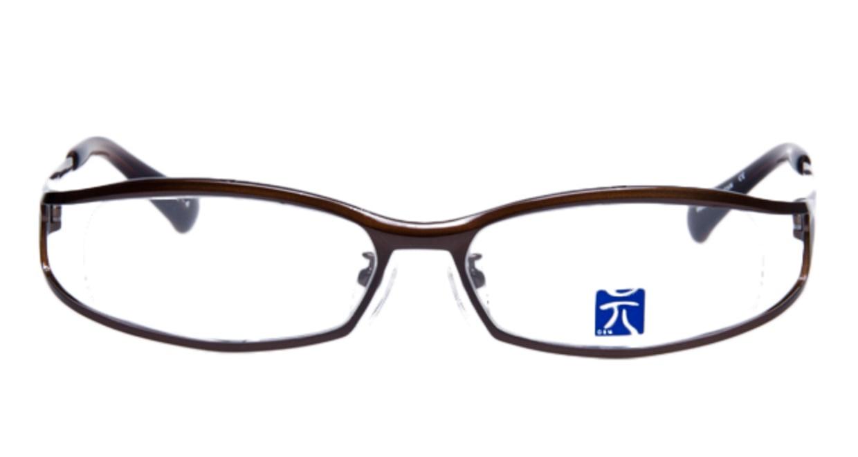元 GEN-48-4 [メタル/鯖江産/なし/スクエア/茶色]  1