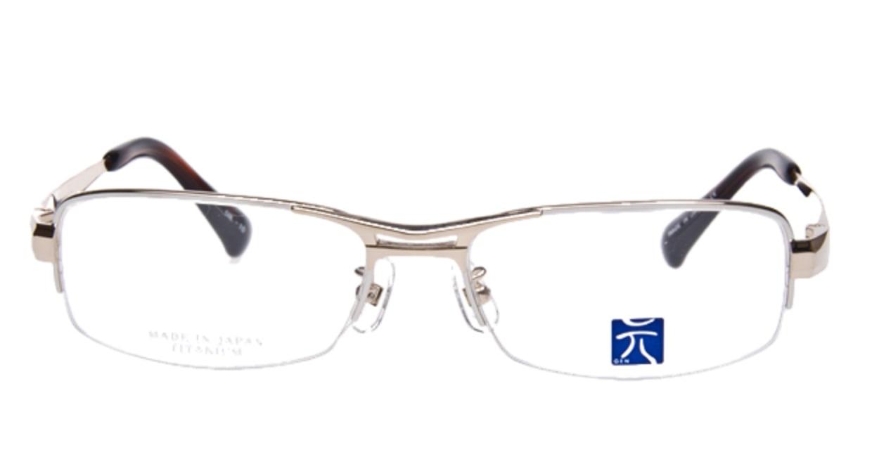 元 GEN-50-10 [メタル/ハーフリム/スクエア/ゴールド]  1