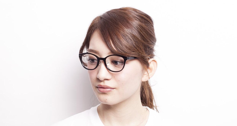 プラスオーエムジー アニー OMG-003-1 [黒縁/丸メガネ/安い]  7