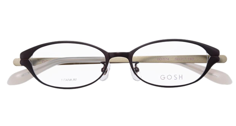ゴッシュ GO-574-2 [メタル/オーバル/茶色]  3