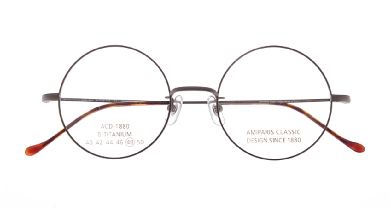 アミパリ ACD1880-AT-BR48 [メタル/丸メガネ/茶色]  3