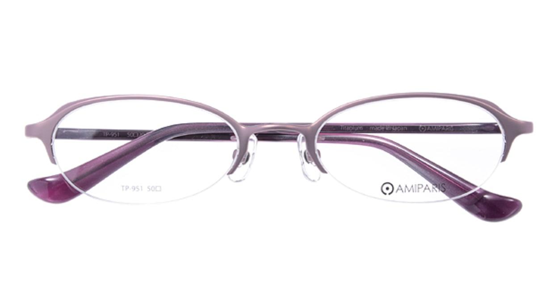 アミパリ TP951-23 [メタル/ハーフリム/オーバル/紫]  3