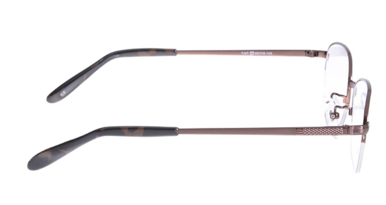 家メガネ VB352-2-55 [メタル/ハーフリム/スクエア/安い/茶色]  1