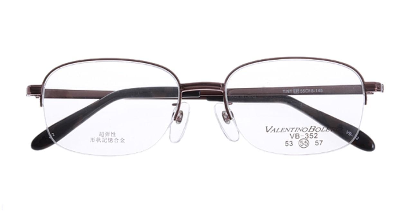 家メガネ VB352-2-55 [メタル/ハーフリム/スクエア/安い/茶色]  3
