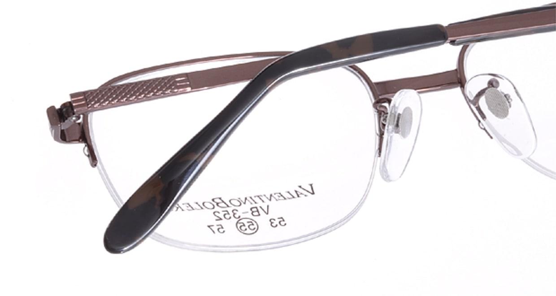 家メガネ VB352-2-55 [メタル/ハーフリム/スクエア/安い/茶色]  4