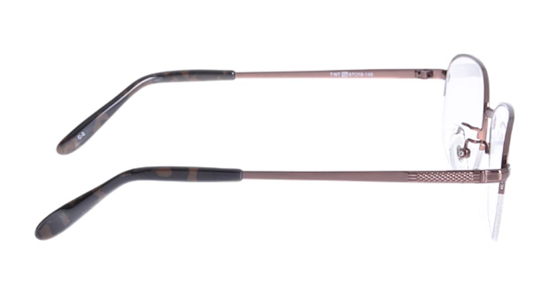 家メガネ VB352-2-57 [メタル/ハーフリム/スクエア/安い/茶色]  1
