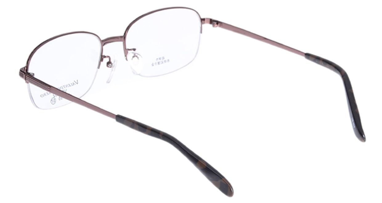 家メガネ VB352-2-57 [メタル/ハーフリム/スクエア/安い/茶色]  2