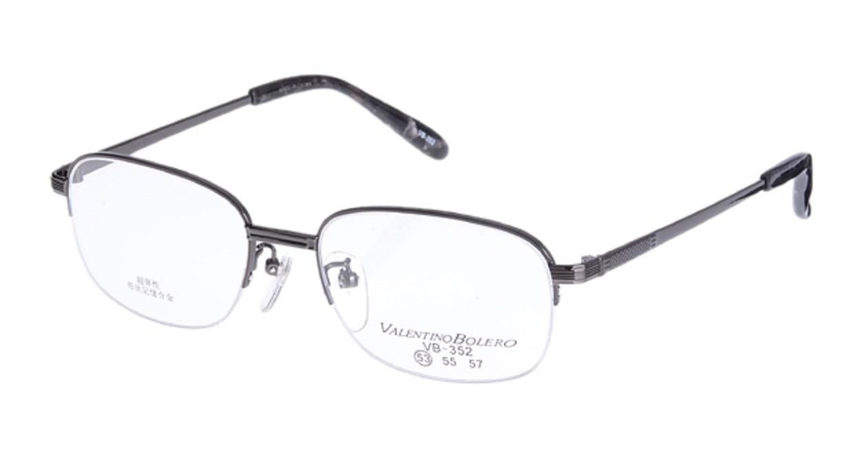 家メガネ VB352-3-53 [メタル/ハーフリム/スクエア/安い/グレー]