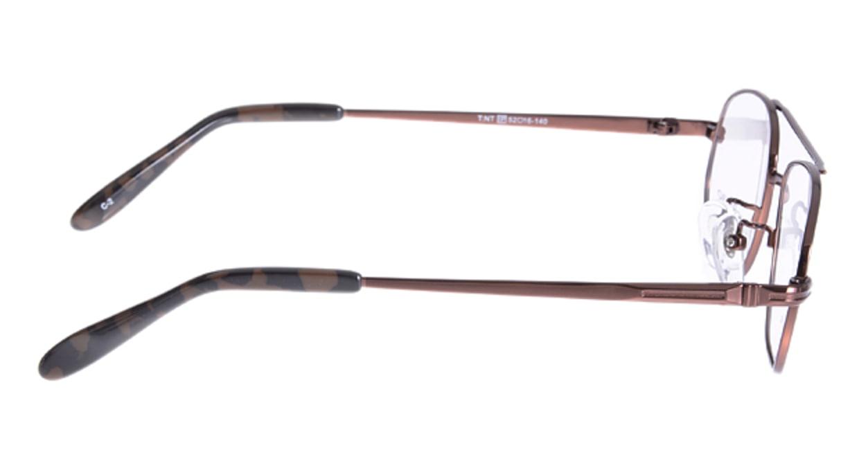 家メガネ VB355-2-52 [メタル/ウェリントン/安い/茶色]  1