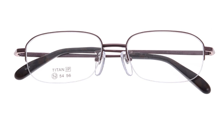 家メガネ SZ5011-2-52 [メタル/ハーフリム/スクエア/安い/紫]  3