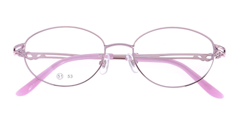 家メガネ RLH2024-2-51 [メタル/オーバル/安い/ピンク]  3