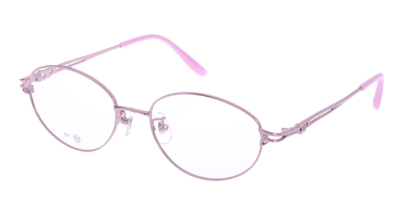 家メガネ RLH2024-2-53 [メタル/オーバル/安い/ピンク]