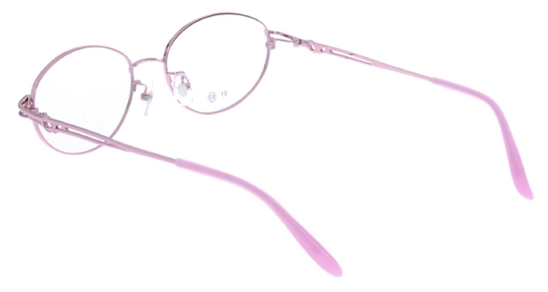 家メガネ RLH2024-2-53 [メタル/オーバル/安い/ピンク]  2