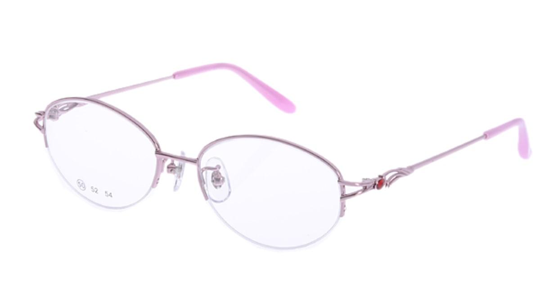 家メガネ RLH2025-2-50 [メタル/ハーフリム/オーバル/安い/ピンク]