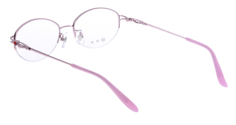 家メガネ RLH2025-2-50 [メタル/ハーフリム/オーバル/安い/ピンク]  2