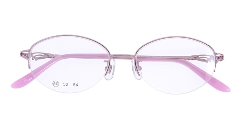 家メガネ RLH2025-2-50 [メタル/ハーフリム/オーバル/安い/ピンク]  3