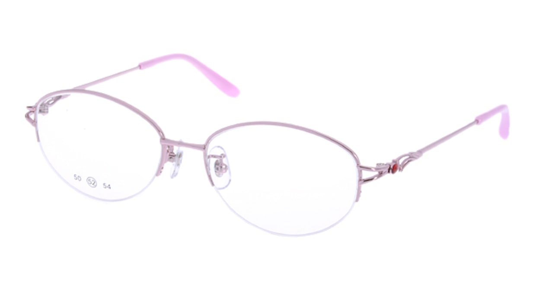 家メガネ RLH2025-2-52 [メタル/ハーフリム/オーバル/安い/ピンク]