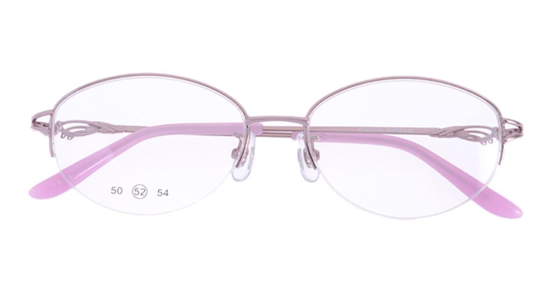 家メガネ RLH2025-2-52 [メタル/ハーフリム/オーバル/安い/ピンク]  3