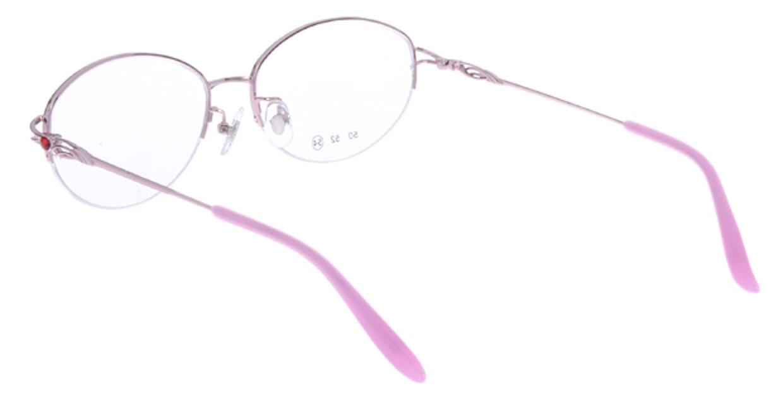 家メガネ RLH2025-2-54 [メタル/ハーフリム/オーバル/安い/ピンク]  2
