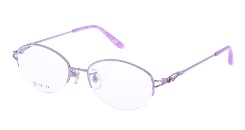 家メガネ RLH2025-3-50 [メタル/ハーフリム/オーバル/安い/紫]