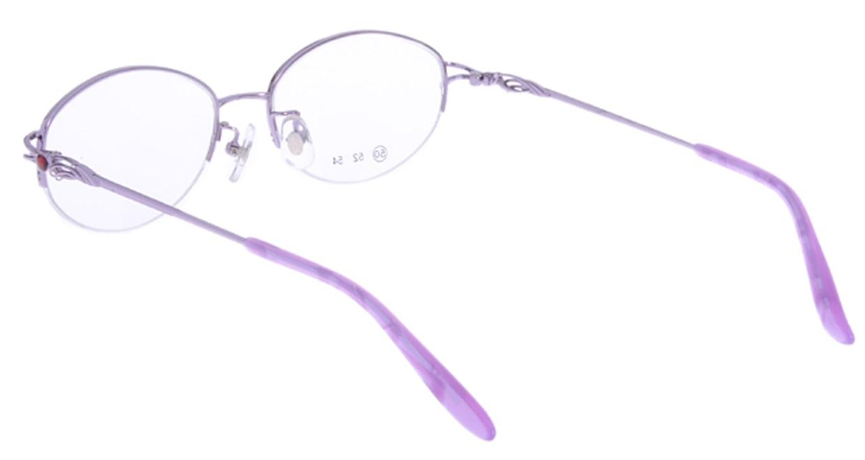 家メガネ RLH2025-3-50 [メタル/ハーフリム/オーバル/安い/紫]  2