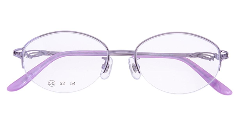 家メガネ RLH2025-3-50 [メタル/ハーフリム/オーバル/安い/紫]  3