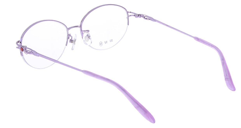 家メガネ RLH2025-3-54 [メタル/ハーフリム/オーバル/安い/紫]  2