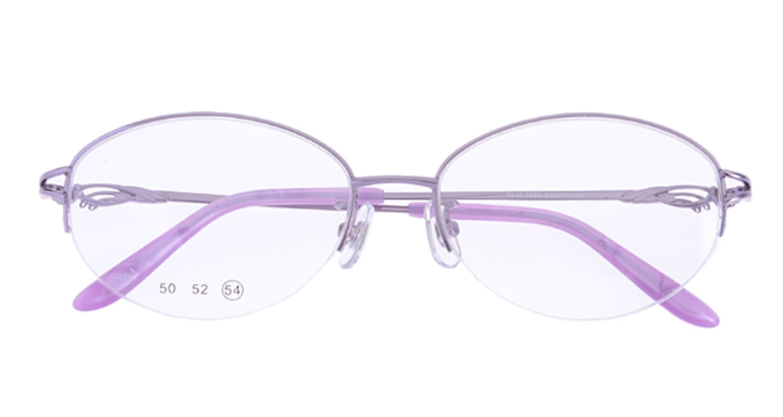 家メガネ RLH2025-3-54 [メタル/ハーフリム/オーバル/安い/紫]  3