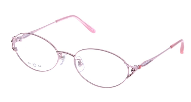 家メガネ 50-001-2-52 [メタル/オーバル/安い/ピンク]