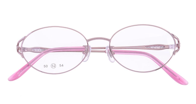 家メガネ 50-001-2-52 [メタル/オーバル/安い/ピンク]  3