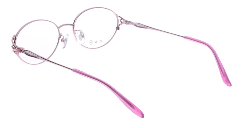 家メガネ 50-001-2-54 [メタル/オーバル/安い/ピンク]  2