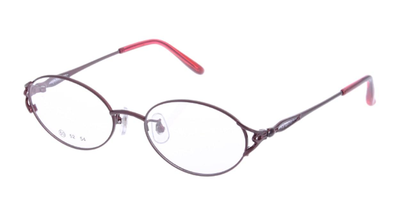 家メガネ 50-001-3-50 [メタル/オーバル/安い/赤]