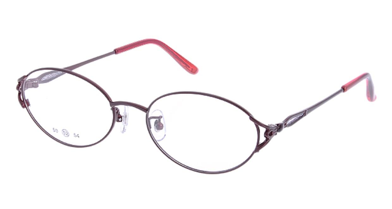 家メガネ 50-001-3-52 [メタル/オーバル/安い/赤]