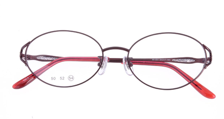 家メガネ 50-001-3-54 [メタル/オーバル/安い/赤]  3