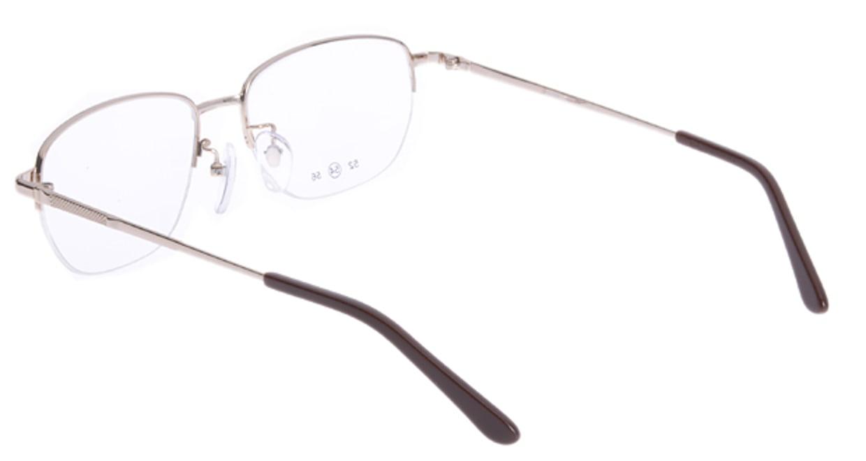 家メガネ 10-008-1-54 [メタル/ハーフリム/スクエア/安い/ゴールド]  2