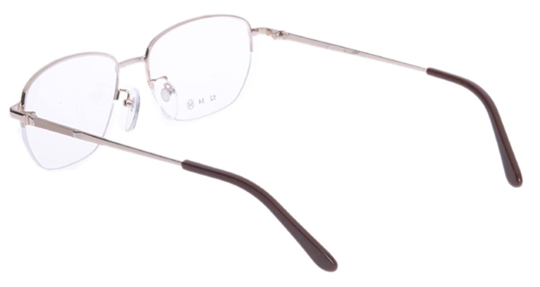 家メガネ 10-008-1-56 [メタル/ハーフリム/スクエア/安い/ゴールド]  2