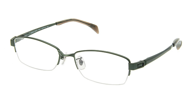 プラスオーエムジー ビジネス トレバー omg-011-1 [メタル/ハーフリム/スクエア/緑]