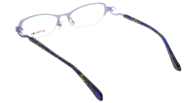 ウィッティポーリー03 03-210-5 [メタル/ハーフリム/スクエア/紫]  2